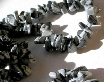 Snowflake Obsidian Beads Chip Nugget For Beaded Jewelry Making