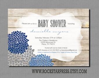 Rustic Boy Baby Shower Invitation _1198