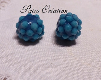 LOT 3 SORTS TURQUOISE RESIN BEAD