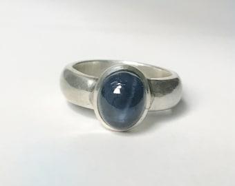 Blue Star Sapphire Ring US 8.25