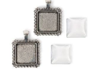 30mm square pendants with fancy trim for 20mm picture