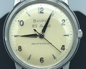 Stainless Steel Bulova 23 Selfwinding Watch from the Late 50s