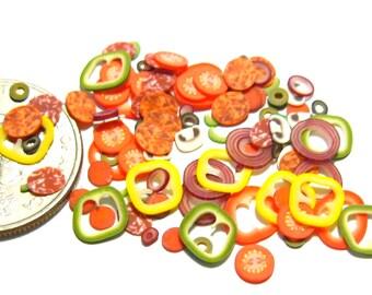 Miniature Pizza Toppings Slice Mix 100pcs