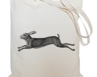 Tote bag/ drawstring bag/ Hare/ cotton bag/ material shopping bag/ shoe bag/gift bag/ animal/ market bag