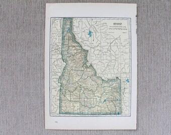 Idaho, Georgia State Map Original Print