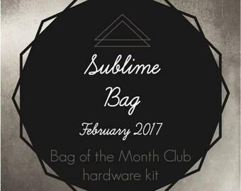 Sublime Bag Hardware Kit - Bag of the Month Club - February 2017 Hardware Kit