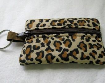 Coin Purse Cheetah Change Purse Small Zippered Pouch