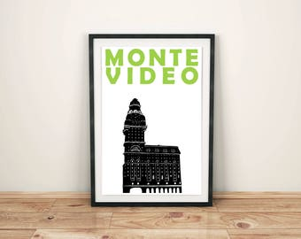 Montevideo Print // Uruguay Poster // South American Print // Montevideo Poster // Uruguay Art // Montevideo Art // Gift for Travellers