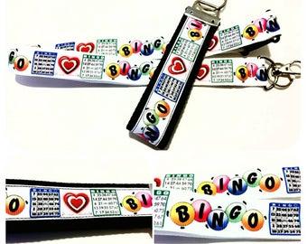 Bingo! Badge holder, lanyard or keychain, Gift for Bingo player, Gift for her