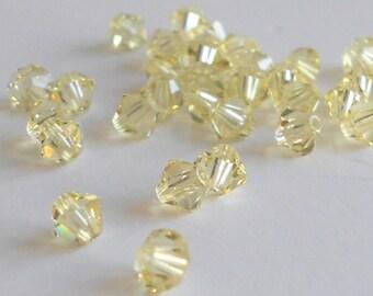 4mm Jonquil Swarovski bicone beads (x24)