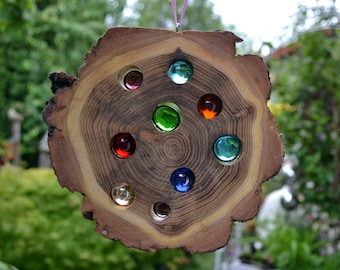 Wood Sun Catcher 16 cm-Robinie nature