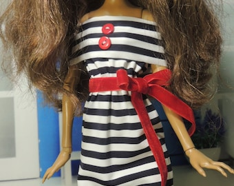 Striped dress for 17inch Monster High Doll