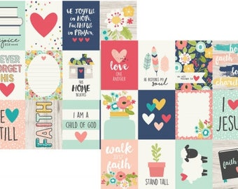 Simple Stories FAITH 3x4 & 4x6 Journaling cards