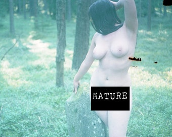 Lomography artistic nude on expired color film Wall art outdoor photo print Woman in the forest MATURE - Summer Joys Never Expire