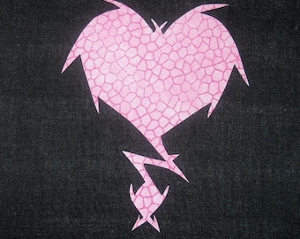 Wicked Heart Lightning Quilting Applique Pattern Design