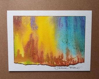 Greeting card handmade, abstract art, original art frame-able, stationery