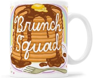 Squad Goals Gift For Her Coffee Mug Brunch And Bubbly Funny Coffee Mug Funny Mom Mug Pancakes Mom Mug Squad Girls Mug Squad Goals Mug Bride