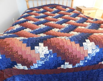 Hand Stitched, Handmade Weaver Fever Quilt