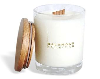 Vanilla Caramel WOODWICK Soy Candle. Decorative scented Soy candle gift. home decor vanilla candles. Soy candles. Best scented candles.
