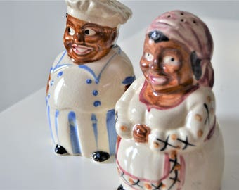 MAN AND WOMAN Salt and Pepper Shaker Country Kitchen Salt n Pepper Decor