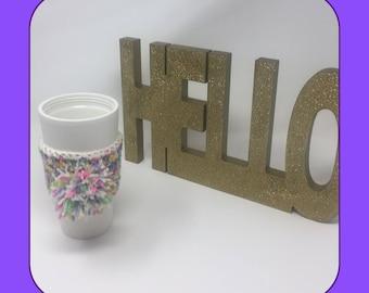 Unicorn Coffee Cup Cozy