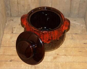 Royal Canadian Art Pottery Bean Pot - 1360