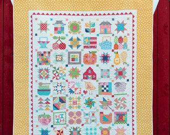 Farm Girl Vintage Lori Holt Bee in my Bonnet Quilt Book 48 Block Pattern Plus More