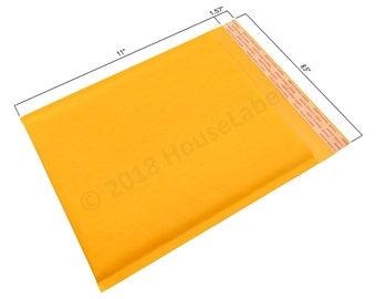 "100 bags #2 8.5X12 KRAFT Bubble Padded Envelope Interior 8.5"" x 11"""