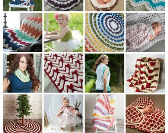 Crochet Pattern Package, Limited Time Offer, 6 individual Crochet Patterns for 6 Dollars