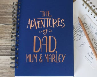 Personalised Dad And Co Adventures Memory Book