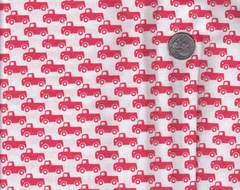 Half yard - Tiny Trucks in Paprika - Michael Miller cotton quilt fabric