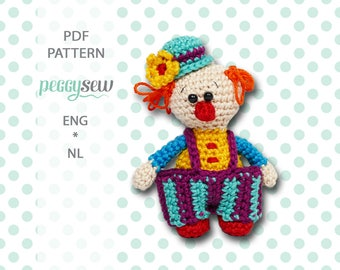 Mini Clown, amigurumi crochet pattern