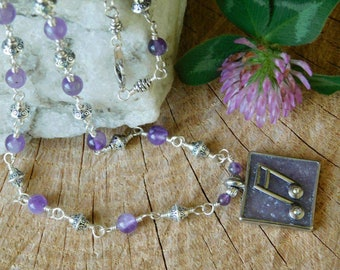 Amethyst music lovers necklace