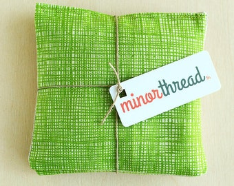 Organic Lavender Sachet Set in Grass Green Sketch Canvas and Natural Linen Organic Lavender Set of 2 Natural Home