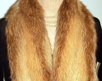 Black Friday Etsy - Cyber Monday Etsy- Sale..upcycled vintage RED FOX FUR collar/ scarf / boa/ scarf..N69