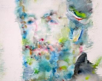 HERMAN MELVILLE - original watercolor portrait - one of a kind!