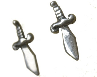 Sword Earrings     studs posts silver gold jewelry