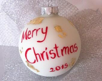 Personalised Christmas ball ornament