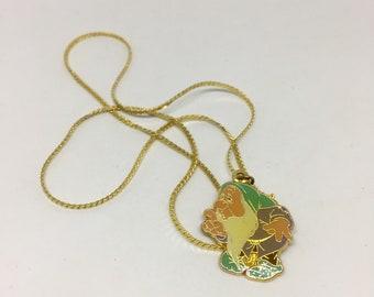 Disney Bashful Enameled Pendant Necklace