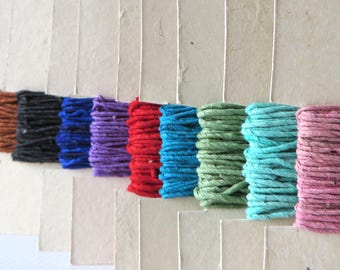 Paper Yarn / Paper Twine / Twisted Paper / Fiber Art Materials / Jewelry Paper Cord / Gift Twine / Colored Twine / Earth Friendly / Paper