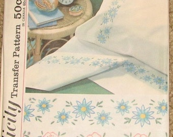 Embroidery Transfer 1960s Vintage Pattern SIMPLICITY 4736, UNCUT