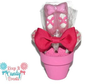 Mini Pink Ballet Lollipop Arrangement Favor, Ballet Recital Gift, Ballet Theme Birthday, Ballerina Baby Shower, Pink Ballerina Candy Favors