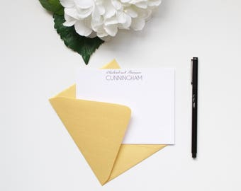 Personalized Stationery, Couples Stationery, Husband and Wife, Custom Stationery, Flat Notecards