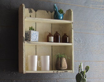 Urban Farmhouse cabinet - Storage Cabinet- wood cabinet -curio cabinet -  spice cabinet -wall shelves