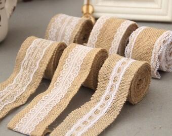 2yards *5cm Burlap Lace Ribbon ,Wedding Deco trimming