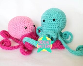 Crochet Pattern Amigurumi Octopus Kawaii Cute Cephalopod