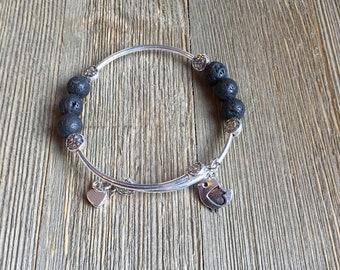 diffuser bracelet, essential oil bracelet, lava rock bracelet, wrap bracelet, aromatherapy bracelet, essential oil jewelry, lava stone