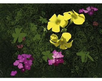Flower Greeting Card, Blank, Lantana Design No A6038