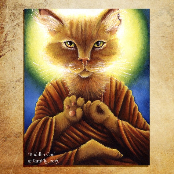 Buddha Cat 8x10 Fine Art Print