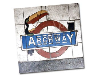 "Greeting card – ""Archway Guinness Toucan"" – London N19 – FREE UK postage"